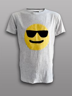 πλAy it cool  Combed Cotton applique t-shirt #applique #tshirt #appliqued #patch #cool #emoticon #emoji #patchwork #handmade