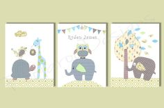 Nursery Art Prints  Owl Decor  Baby Nursery by RoolarooDesigns, $35.00