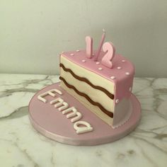 Half a birthday cake