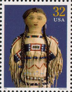 "USPS 1997 - Plains Indian doll  stamp from the ""Classic American Dolls"" stamp set"