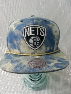 a1bb8a93b9e08 Brooklyn Nets Stone Wash Snapback Hat by Mitchell   Ness Brooklyn Nets