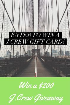 Mommy Blog Expert: $200 J.Crew Giftcard Giveaway - Enter DAILY to Win until…