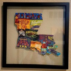 Hey, I found this really awesome Etsy listing at https://www.etsy.com/listing/235324775/louisiana-abita-beer-label-14x14-frame