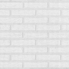 Papel de Parede com Estampa de Tijolos Brancos - 09136-30