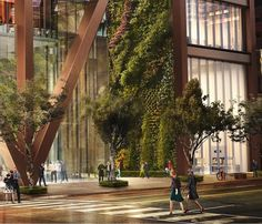 Foster to build Toronto tower with what looks like the largest living wall in North America : TreeHugger