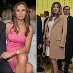 Melania also loves American designers, of course. She has been spotted at Michael Kors' shows and wears the brand's clothes on a regular basis. For her visit to the polling station to place her vote in the presidential election, she donned a white Michael Kors A-line dress, right.