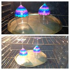 Hand painted wine glasses: use enamel paint on glasses, bake them to make it dishwasher safe! DIY