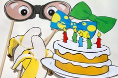 Curious George Party Photo Booth  Props Package by craftybouquets, $12.00 by alejandra