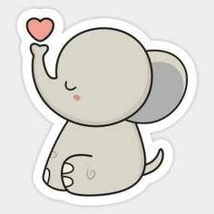 Cute Elephant Sticker!