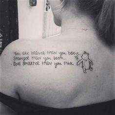 Winnie the Pooh Quote Tattoo Idea