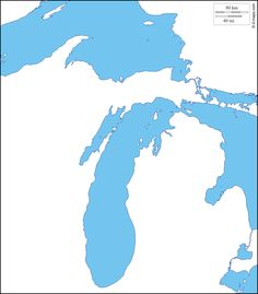 Image result for michigan map outline