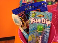 candy theme favors - love the toothbrush