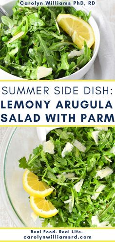 Has anyone else gotten a little too dependent on bagged salads this winter? It's easy to get in a rut, and I'm calling myself out on this one. I've been ready/needing to upgrade my salad repertoire, and this LEMONY ARUGULA SALAD with PARMESAN is the perfect fit. Not only does it have a light lemon dressing and baby spring peas, but it also is about as easy as tossing together those bagged salad components. Healthy Holiday Recipes, Real Food Recipes, Summer Side Dishes, Tasty, Yummy Food, Arugula Salad, Anti Inflammatory Recipes, Winter Food, Nutritious Meals