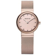 d5f2d976219 Nice Bering Ladies  Stainless Steel Rose Gold Watch