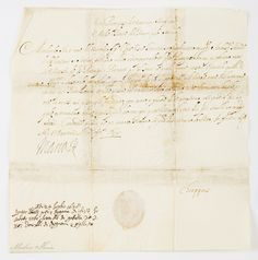 Letter of Marie Louise Gonzaga, April 12, 1638 (PD-art/old) in Mantua, Private collection