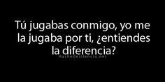 """""""...¿entiendes la diferencia?"""" #HacheDeSilencio"""