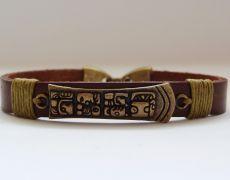 Bratara piele maya bronz Viria, Maya, Fashion, Moda, Fashion Styles, Fashion Illustrations, Maya Civilization