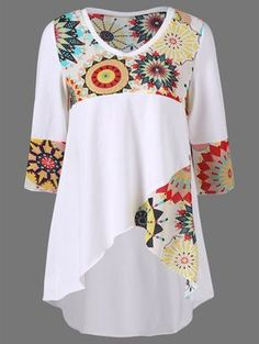 Sample High Low Hem Graphic Longline T-Shirt Vetements Clothing, Mode Boho, Plus Size T Shirts, Sammy Dress, Sewing Clothes, Refashion, Plus Size Fashion, Sewing Projects, Sewing Patterns
