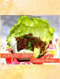seems like a good base recipe! Korean Beef Lettuce Wraps