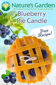 Blueberry Pie Candles Recipe is one of Natures Garden Candle Making Supplies' free room scenting recipes. Learn how to make pie candles at home. How To Make Pie, How To Make Homemade, Homemade Candles, Scented Candles, Pie Mold, Garden Candles, Candle Making Supplies, Wax Melts, Free Food