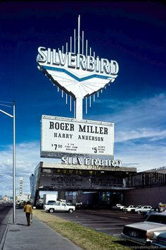 Silverbird, Las Vegas, October 1980. Photo by Adrian Gee The biggest sign with…