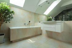 Clean and vibrant bathroom design