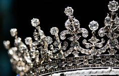 """ The Girls of Great Britain and Ireland Tiara: A wedding present to then Princess Mary, from a committee of the girls of Great Britain and Ireland. It..."