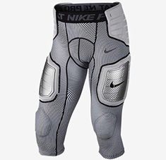 84511aaed3c92 NIKE Pro Mens Hyperstrong Hard Plate Three-Quarter Football Tights White/ Black/