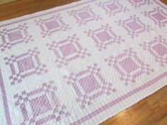 Pretty Lavender Purple and White Vintage 1930 40s Quilt Puss in The Corner | eBay