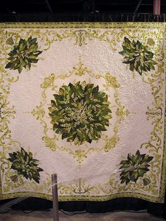 lily of the valley, photo of whole quilt  I wish I knew who to credit this to, it is truly amazing especially if you look at the detail photo