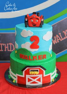Tec the tractor By Dammin on CakeCentralcom Birthday party ideas