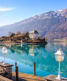 In dreamy Iseltwald, Switzerland