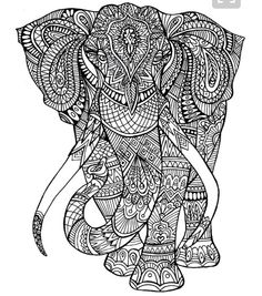 elefant ausmalbild erwachsene | diy projects | pinterest