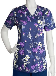 Style Code: (BA-71163NC) This Barco Women's scrub top print design gives a v-neckline in wider size. Also this short sleeve nursing top assures you that it does not fade and shrink and it uses pure cotton fabric with ArcRelease technology. It is also functional that you can keep your things with you that it has two patch pockets, cell phone pocket, and scissor pocket. Available in sizes XS to 5XL and its center back length is 26.5 inches.