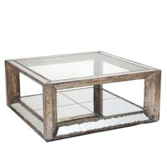 Bought this for upstairs living room..now need a darker wood (or maybe even leather/ or leather storage ottoman) for the downstairs family room/ theatre room (per Joe, lol ;-)) - Pascual Coffee Table from Z Gallerie