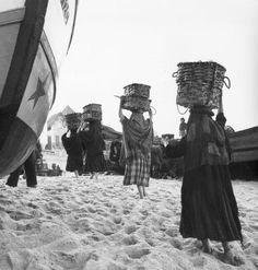 inch) Print (other products available) - Women carrying fish in baskets on the beach at Nazare. - Image supplied by Fine Art Storehouse - Print made in Australia Good Ol Times, Made In America, Photo Mugs, Photo Gifts, Fine Art Prints, Canvas Prints, Framed Prints, Poster Prints, Australia