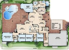 New House Ideas...I like the master bedroom section, but the rest is too darn big...maybe half the garage and eliminate the bonus room and extra bedrooms?