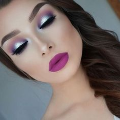 Can we scream perfection with this purple and silver halo by @jessicarose_makeup crate...