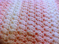 Easy Star Stitch Baby Blanket ~ AG Handmades