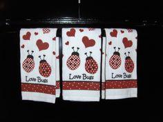 Ladybug Kitchen Towels
