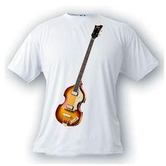 hofner paul McCartney vintage image guitar t-shirt rock n roll music by artonstuffdesigns on Etsy