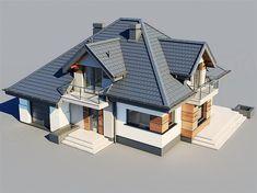 Flat House Design, House Roof Design, House Outside Design, Small House Interior Design, Village House Design, House Design Photos, Indian Home Design, Home Design Floor Plans, Home Building Design