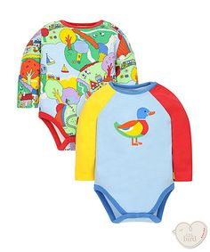 Little Bird by Jools Duck and Countryside Bodysuits - 2 Pack