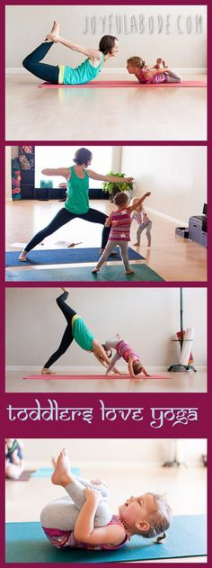 Why you should try yoga with your toddlers. Doing yoga together with parents and…