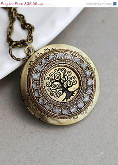 EN venta árbol de la vida medallón de bronce por emmagemshop, $34.19