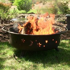 """Sunnydaze Decor SMS202 42"""" Large Steel Cosmic Fire Pit – The Fire Pits Store"""