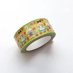 Washi Masking Tape Roll - Alice in Wonderland Masking Tape, Washi Tape, Alice In Wonderland, Cuff Bracelets, Rolls, Japanese, Paper, Duct Tape, Japanese Language