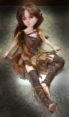 OOAK-Resin-polymer-mixed-media-BJD-Bambi-child-OOAK-by-Patricia-Rose