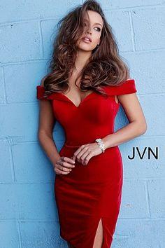 9773bb49909 Red Off the Shoulder Velvet Homecoming Dress JVN62642  JVN  cocktaildress   newcollection  2018