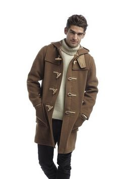 Original Montgomery Mens Duffle Coat (Size 42 Brown) on sale